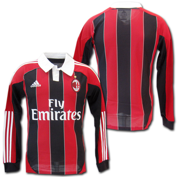 online store 6b54f 631ee  Product made by AC Milan 12/13 home (red black) long sleeves Adidas