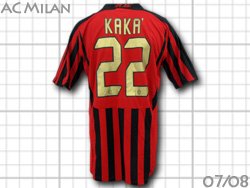 Product made by AC Milan 07/08 home (red / black) #22 Kaka Adidas