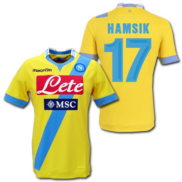 ナポリ 13/14 3rd(黄色) 半袖 #17 HAMSIK ハムシーク オーセンティック マクロン製