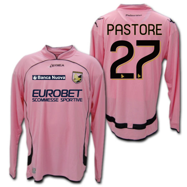 0b90d817870 O.K.A.Football  Palermo-10   11 Home (Pink) long-sleeved   27 PASTORE  Javier Pastore-LEGEA