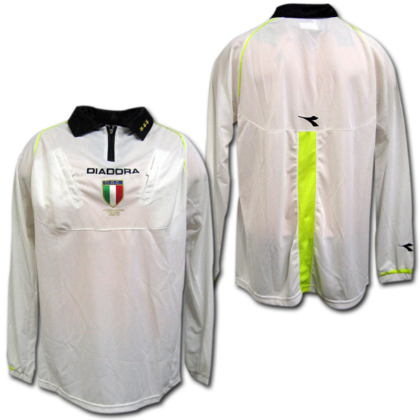 moda designerska dobrze out x najlepsze trampki  04/05 Serie A referee shirt (white) long sleeves DIADORA