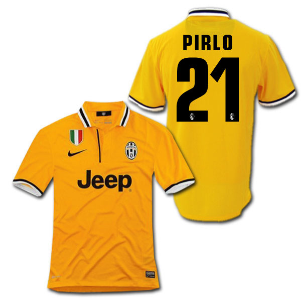 online store ca1d0 98aab Product made by Juventus 13/14 away (yellow) #21 PIRLO Andrea Pirlo Nike