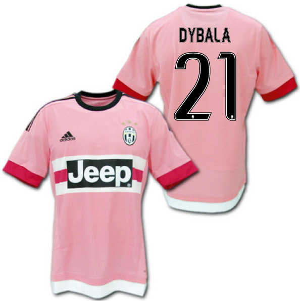 detailed look 29aeb 3ded6 Product made by Juventus 15/16 away (pink) # 21 DYBALA Paulo Dybala Adidas
