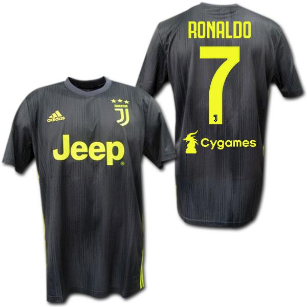 best service 743b4 e586f Juventus 18/19 third (black) # 7 RONALDO Cristiano Ronaldo adidas