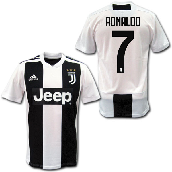 best authentic f4e9e a503d 18/19 Juventus home (black and white) # 7 RONALDO Cristiano Ronaldo adidas