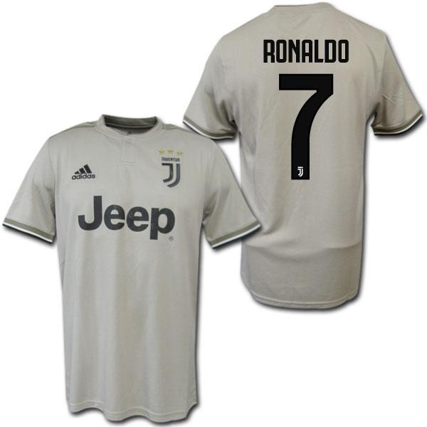 18/19 ユベントス アウェイ(ベージュ) #7 RONALDO クリスティアーノ・ロナウド adidas
