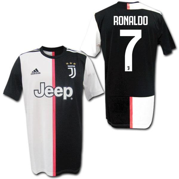 size 40 47377 efa45  19/20 Juventus home (black and white) # 7 RONALDO Cristiano Ronaldo adidas
