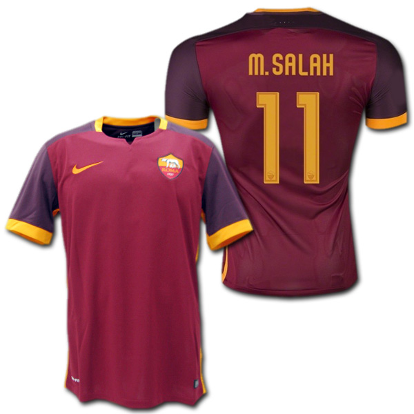 differently 9ad87 86156 AS Roma home 15/16 (wine) # 11 M.SALAH Mohamed-Salah Nike
