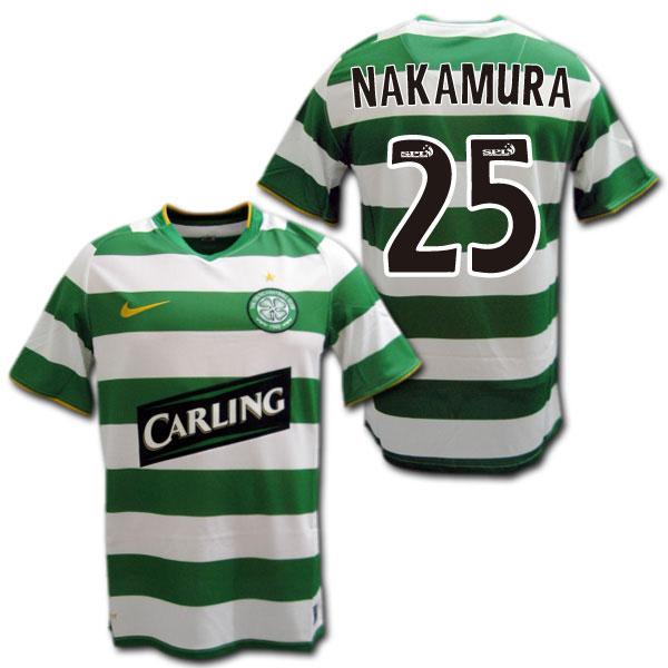 half off 53657 1bbf1 Product made by Celtic 08/09 home (green / white) #25 NAKAMURA Shunsuke  Nakamura Nike