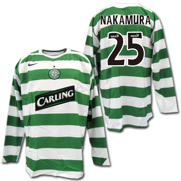 timeless design 4a53d a5145 Celtic players for 05/06 06 / 07 home (green / white) # 25 NAKAMURA  Nakamura Shunsuke long sleeve Nike