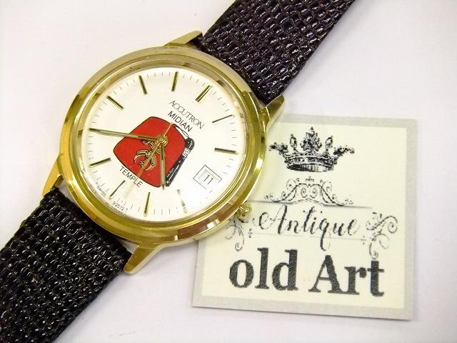 希少美品フリーメイソンシュラインBULOVAブローバACCUTRONアキュトロンスイス製クォーツ式オフィシャル腕時計【M-10506】【中古】【送料無料】