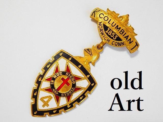 1853'sフリーメイソンテンプル騎士団アンティーク勲章バッジ 【M-11759】【中古】【送料無料】