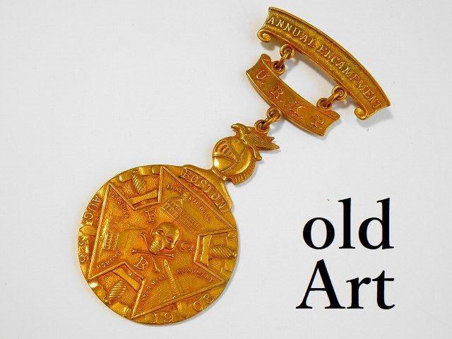 1908年代アンティークピシアス騎士会スカルFCB勲章バッジ徽章【M-11785】【中古】【送料無料】