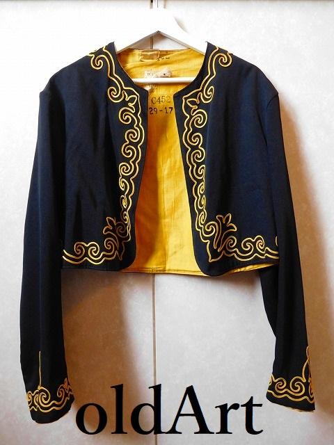 一点物 19世紀 1800年代 ビクトリアン アンティーク 当時物 フリーメイソン 刺繍 ジャケット コスチューム【中古】【古着】【送料無料】