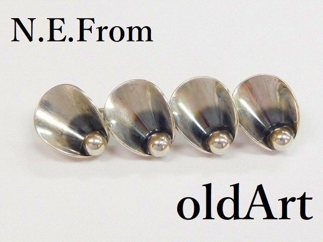 アンティーク北欧デンマーク製N.E.From1950-60年代STERLINGシルバー銀製ブローチ【M-12224】【中古】【送料無料】