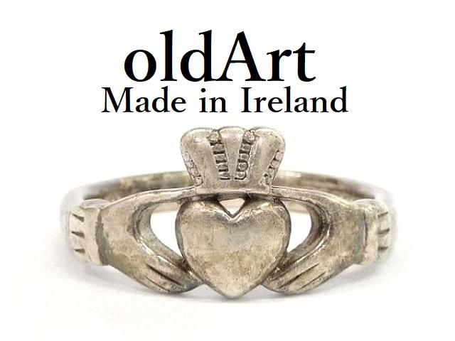 アイリッシュ ケルト ジュエリー アイルランド 格安激安 価格 IRELAND 友愛のしるし 結婚指輪として伝えられてきたとされています 記念日やお祝いプレゼントにも アイルランド製 1997年 ShanOre社製 伝統的な指輪 スターリングシルバー 中古 刻印 クラダリング ホールマーク Claddagh M-12283 送料無料 Ring メンズ 26.5号