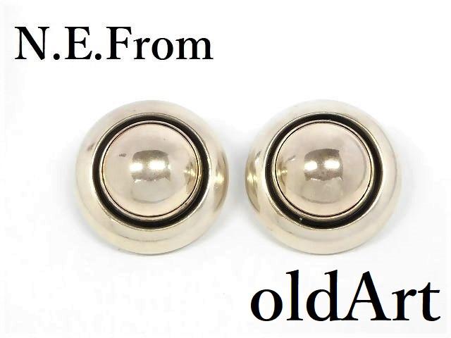 北欧 デンマーク製 N.E.From 1950-60年代 ヴィンテージ シルバー 銀製 クリップ イヤリング【M-12689】【中古】【送料無料】
