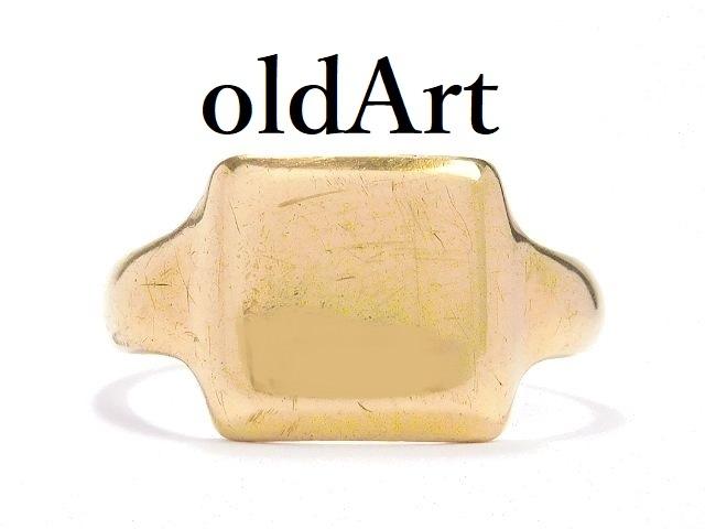 England 直輸入品激安 Vintage 40s 40年代 9ct Gold Ring 一点物 アクセサリー 誕生日 記念日 お祝い プレゼント ギフト ラッピング無料 自分へのご褒美に 送料0円 英国 21.5号 1946年製造 9CT シグネット 刻印 中古 指輪 メンズ 送料無料 彫刻 9金無垢 イギリス製 リング ヴィンテージ ホールマーク M-14041 ゴールド