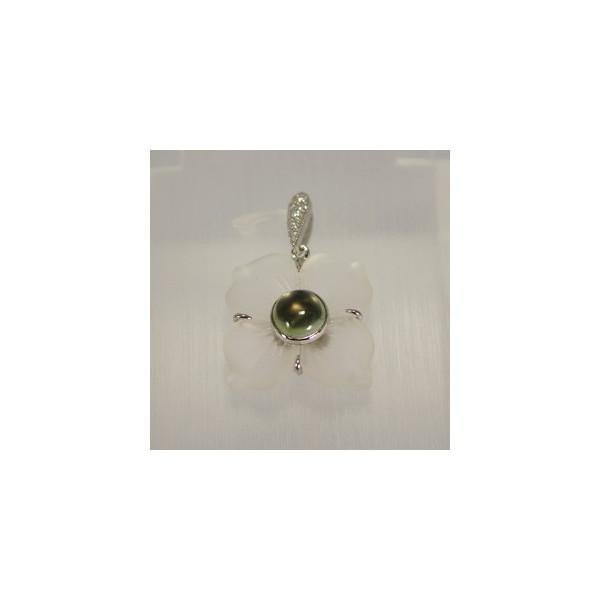 最新のデザイン フラワーベンダントトップ トルマリン&水晶 25mm 25mm 1点物です, colettecolette コレットコレット:3b20b61b --- business.personalco5.dominiotemporario.com