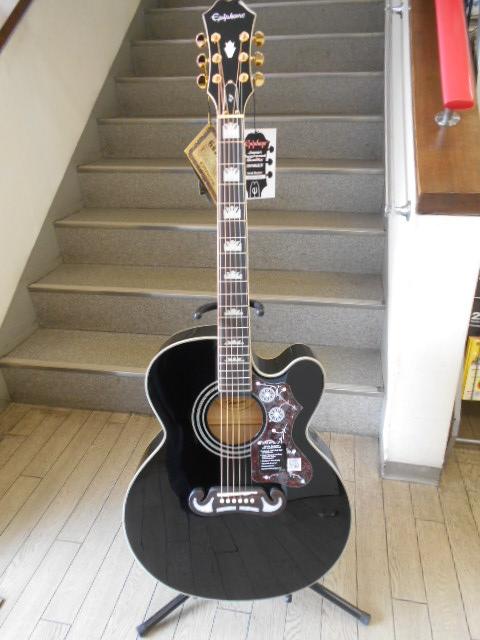 新品 店頭展示品 Epiphone(エピフォン) アコースティック/エレクトリックギター EJ-200SCE Black(ブラック) ソフトケース付!