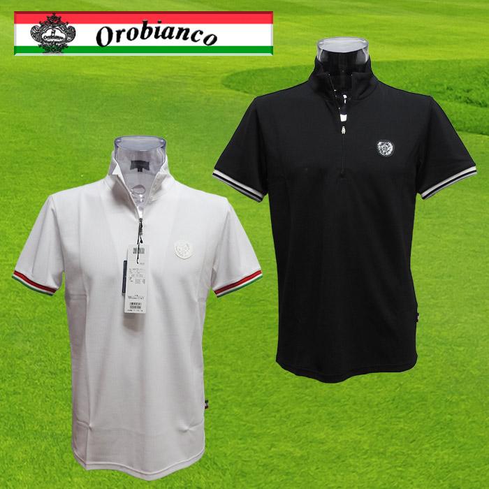 Orobianco オロビアンコ 半袖 メンズ ジップポロシャツ 45075-111