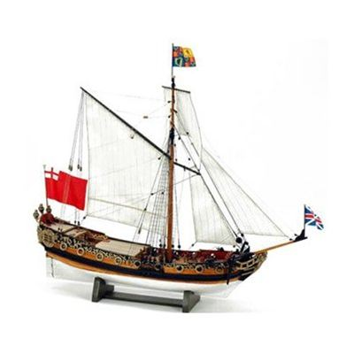【送料無料!!】ウッディジョー 木製帆船模型 1/64 チャールズヨット