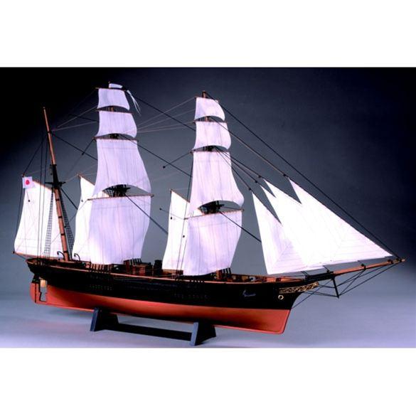 【送料無料!!】ウッディジョー 木製帆船模型 1/75 咸臨丸 帆付き