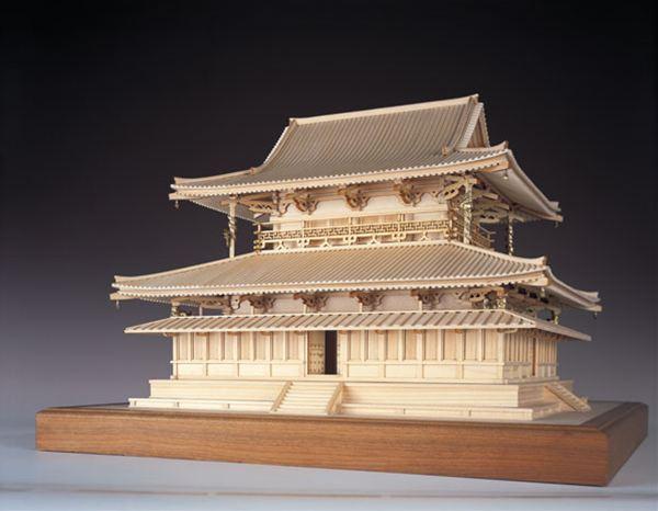 【送料無料!!】ウッディジョー 木製建築模型 1/75 法隆寺 金堂 レーザーカット加工