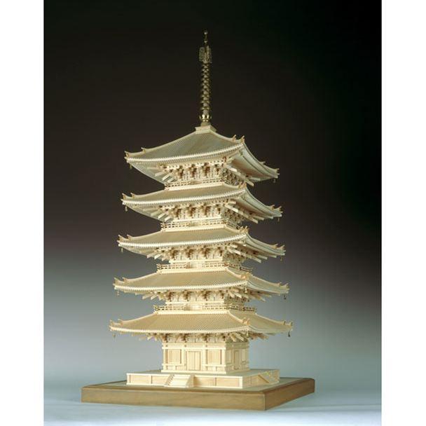 【送料無料!!】ウッディジョー 木製建築模型 1/75 興福寺 五重塔 レーザーカット加工