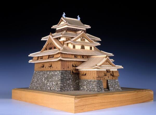 【送料無料!!】ウッディジョー 木製建築模型 1/150 松江城 レーザーカット加工