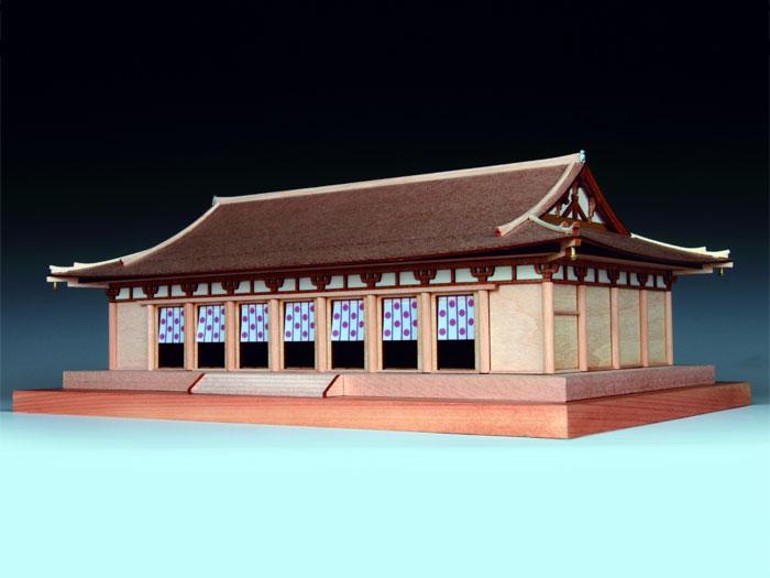 木製建築模型 1/150 法隆寺 大講堂 ウッディジョー