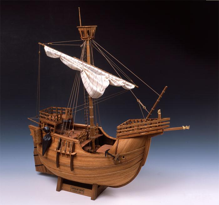 【送料無料!!】 木製帆船模型 1/30 カタロニア船 ウッディジョー