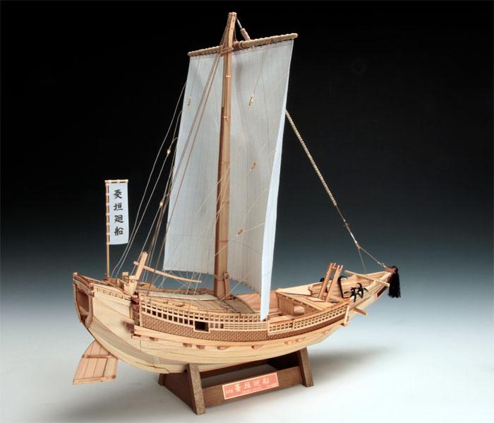 【送料無料!!】 木製帆船模型 1/72 菱垣廻船 ウッディジョー