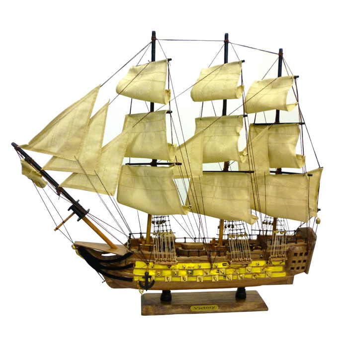 木製帆船模型 ヴィクトリー号 60センチ 完成品