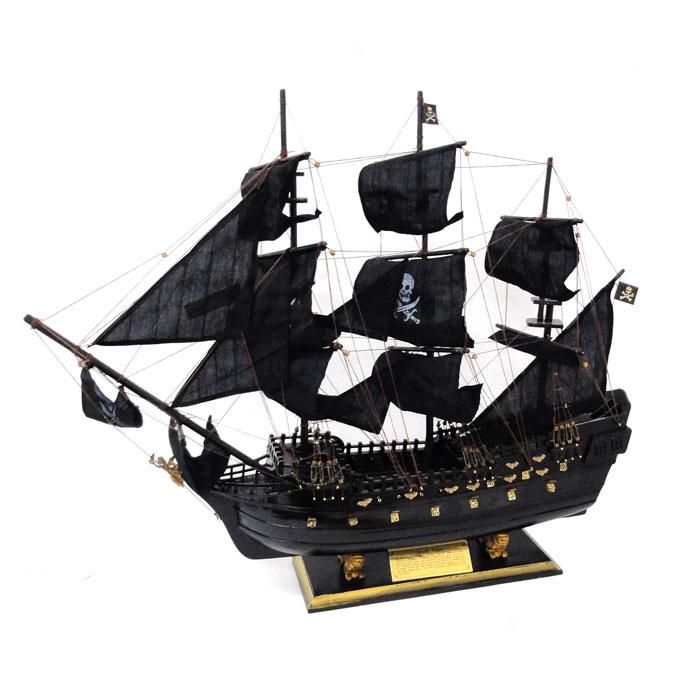 【メーカー直送のため代引き不可】 【送料無料】 木製帆船模型 ブラックパール号 80センチ 完成品, 【この商品はラッピング非対応です】