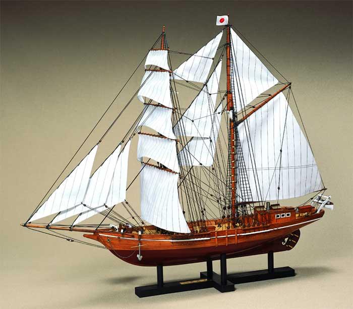 【送料無料】 ウッディジョー 木製帆船模型 1/70,忍路丸