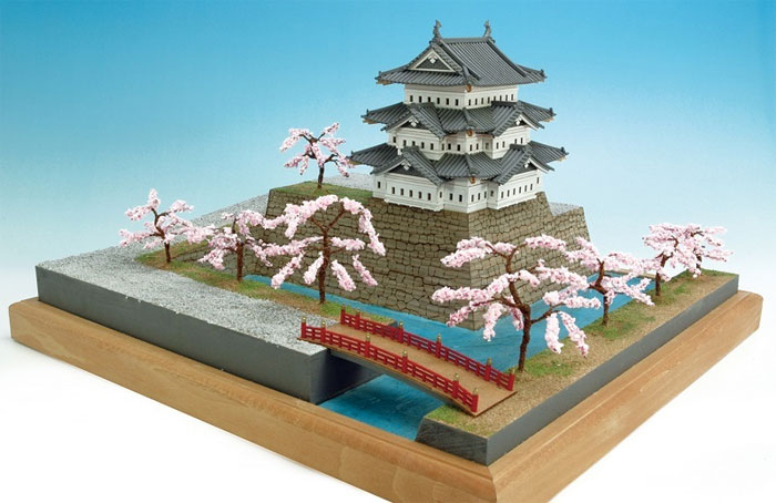 【送料無料】 ウッディジョー 木製建築模型 1/150 弘前城