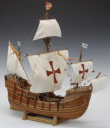 【送料無料】 木製帆船模型 1/50 サンタマリア