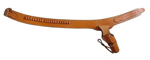 【送料無料】 ウエスタンガンベルト 牛革製 ブラウン 001-L-BR