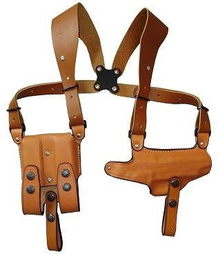 ショルダーホルスター 牛革製 ブラウン 284-BR