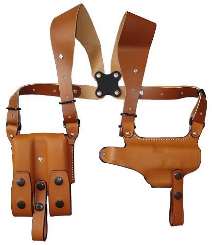 ショルダーホルスター 牛革製 ブラウン 285-BR