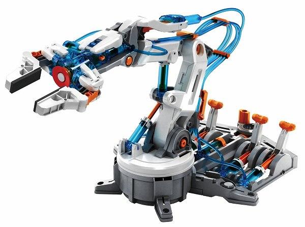 佐川急便の発送で送料無料 沖縄県 離島を除く 送料無料 エレキット ロボット工作キット STEM 自由研究 おしゃれ 手数料無料 水でうごく 水圧式ロボットアーム MR-9105