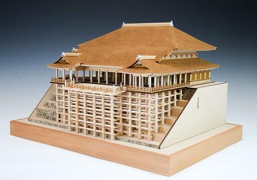 【送料無料】 木製建築模型 1/150 清水寺 本堂・舞台