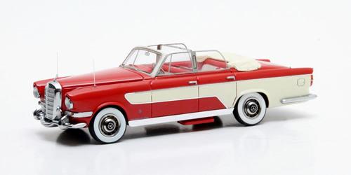 【送料無料】メルセデス Ghia 300C Allungata カブリオ 1956 レッド/ホワイト 1/43スケール 国際貿易