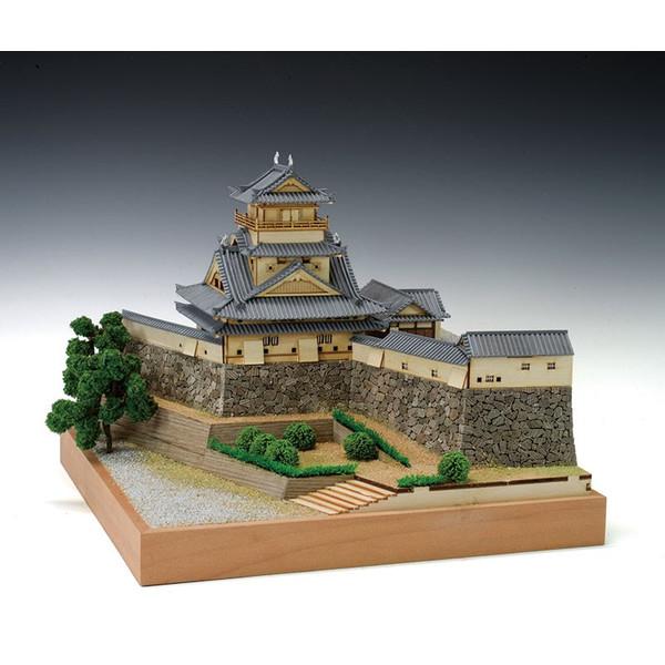 【送料無料】 木製建築模型 1/150 高知城