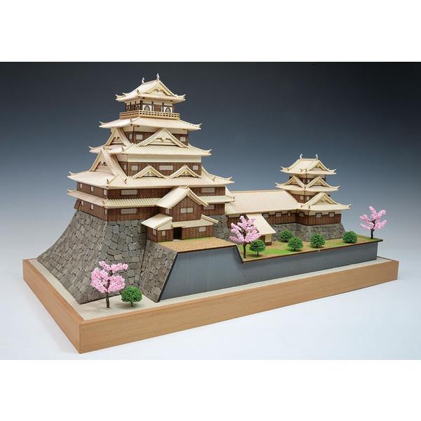 【送料無料】 木製建築模型 1/150 広島城