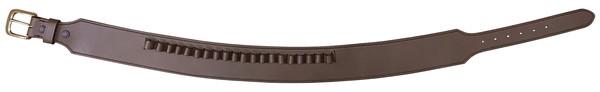 【送料無料】 ガンベルト 牛革製 チョコ Lサイズ 070-L