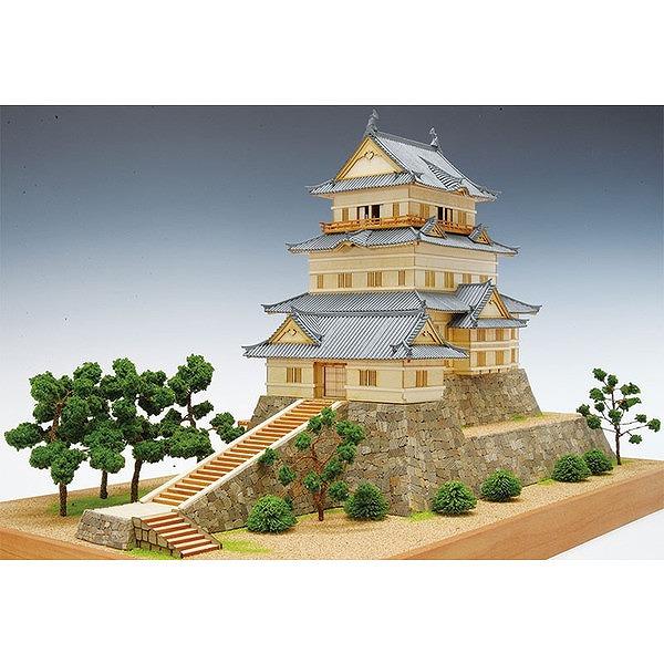 【送料無料】 木製建築模型 1/150 小田原城