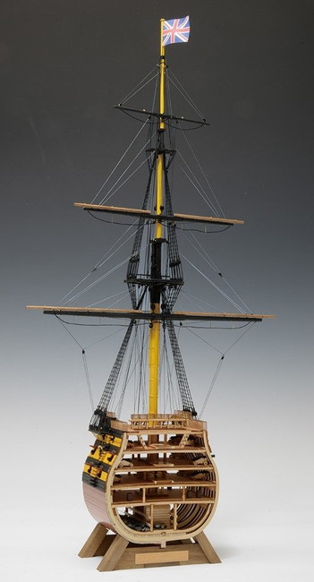 【送料無料】 木製帆船模型 1/160 ビクトリー カットモデル(帆無し)