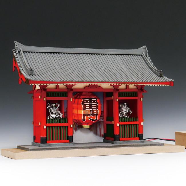 【送料無料】 木製建築模型 1/100 浅草寺 雷門 ハーフタイプ